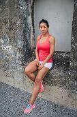 Motivated Fitness Female Athlete poster