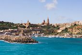 pic of gozo  - Port of Mgarr on the small island of Gozo Malta - JPG
