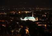picture of vicenza  - Vicenza city lights at night and the illuminated monuments - JPG