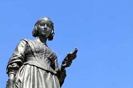 pic of statistician  - Victorian memorial statue of Florence Nightingale 1820 - JPG