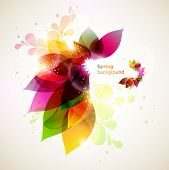 stock photo of pamphlet  - Floral  abstract background - JPG