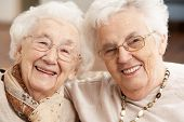 stock photo of day care center  - Two Senior Women Friends At Day Care Centre - JPG