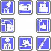 foto of people icon  - A set of 8 business vector icons - JPG