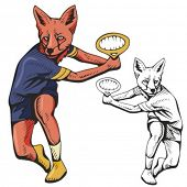 Fox Tennis Mascot. Great for t-shirt designs, school mascot logo and any other design work. Ready fo