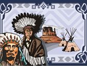 stock photo of cree  - Western Indian Background Series - JPG