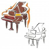 Music Instrument Series. Vector illustration of a piano.