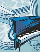 foto of rainbow piano  - Musical Background - JPG
