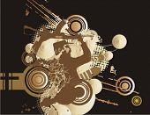 Постер, плакат: Война связанных фон полутонов Проверить мое портфолио для больше из этой серии а также тысячи