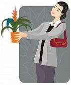 stock photo of flower shop  - Shopping vector illustration series - JPG