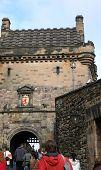 Tourists Edinburgh Castle poster