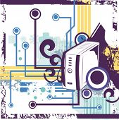 picture of computer technology  - Computer related abstract background series - JPG