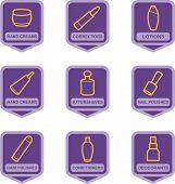 Merchandise Pictogram Series - Cosmetics