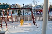 picture of swingset  - Picture of my backyard swingset 