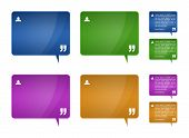 picture of text-box  - Set of 4 detailed testimonials block for web template  - JPG