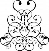 stock photo of scrollwork  - filigree design - JPG