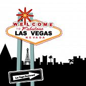 Welcome to Las Vegas Sign (city behind - in pieces for changes)