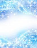 Постер, плакат: Абстрактные Рождество светло голубой фон