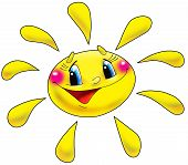foto of ruddy-faced  - The cheerful sun with the big eyes - JPG