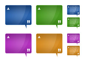 stock photo of text-box  - Set of 4 detailed testimonials block for web template  - JPG