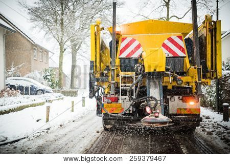 Winter service truck or spreading