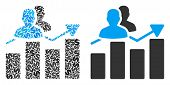 Audience Graph Collage Of Dollar Symbols And Small Round Pixels. Vector Dollar Symbols Are Combined  poster