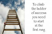 stock photo of reach the stars  - ladder to success - JPG