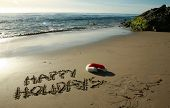 image of happy holidays  - the words  - JPG