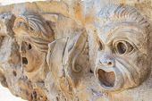 Theatrical Mask Relief Of Ancient Town Of Myra In The Lycia Region Of Anatolia , Modern Day Demre, T poster