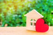 House With A Red Heart. House Of Lovers. Affordable Housing For Young Families. Valentines Day Hous poster