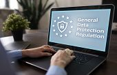 Gdpr. Data Protection Regulation. Cyber Security And Privacy. poster