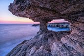 Veiw From Sea Cave At Dusk On Cape Greco Near Ayia Napa, Cyprus (hdr Image) poster