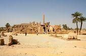 Постер, плакат: Вид Карнакского храма Луксор Египет