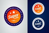 Super Quality Badge With Stars. The Premium Quality Guaranteed. poster