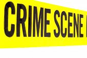 picture of crime scene  - Closeup of a section of Crime Scene tape - JPG
