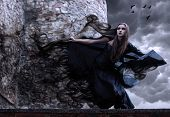 foto of art gothic  - witch - JPG