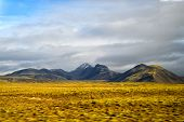 Highlands Of Iceland Concept. Haukadalur Valley In Iceland. Beautiful Landscape In Valley. Peaceful  poster