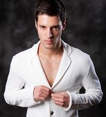 image of male face  - Fashion Shot of a Young Man - JPG