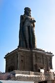 picture of kanyakumari  - Thiruvalluvar statue on small island near Kanyakumar - JPG