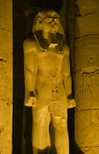 Illuminated Ramses 2nd At Luxor Temple