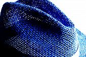foto of partially clothed  - partial photograph of a blue hat - JPG