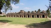 picture of vijayanagara  - Elephant stables at the Cacred Center of Vijayanagara at Hampi a city located in Karnataka South West India - JPG