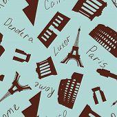 Seamless Landmark Pattern poster