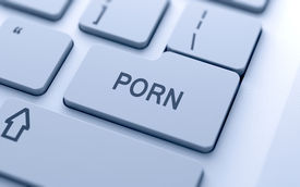 picture of pornography  - Porn button on keyboard with soft focus - JPG