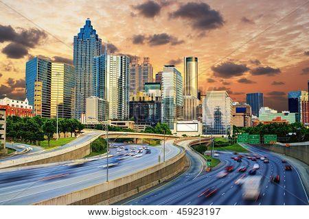 Downtowntown Atlanta Georgia Skyline