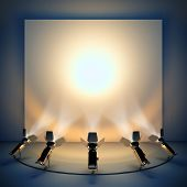 stock photo of stage decoration  - Empty background with stage spotlight - JPG