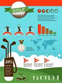 pic of golf bag  - Golf vector infographics - JPG