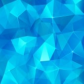 stock photo of ice crystal  - Ice cubes blue abstract geometry vector background - JPG