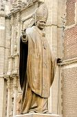 picture of guadalupe  - Statue of Pope John Paul II in Mexico City near the Basilica of Our Lady of Guadalupe - JPG