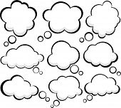 Set of comic style speech bubbles. Vector clouds. Eps10.