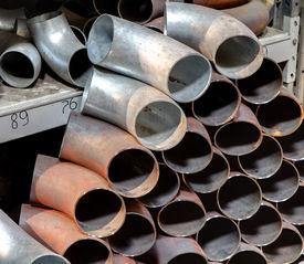 stock photo of pipe-welding  - Carbon steel seamless butt welded elbow Material butt - JPG